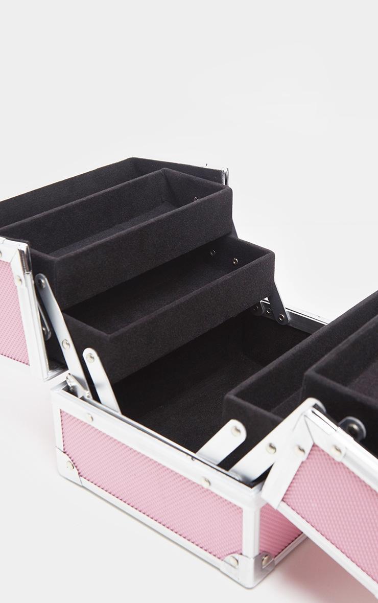 Pink Makeup Train Case 3