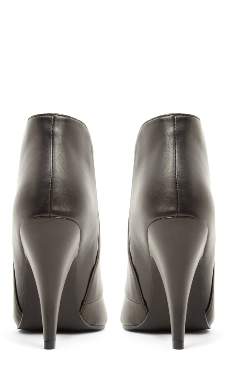Anastasia Black Leather Ankle Boots 3
