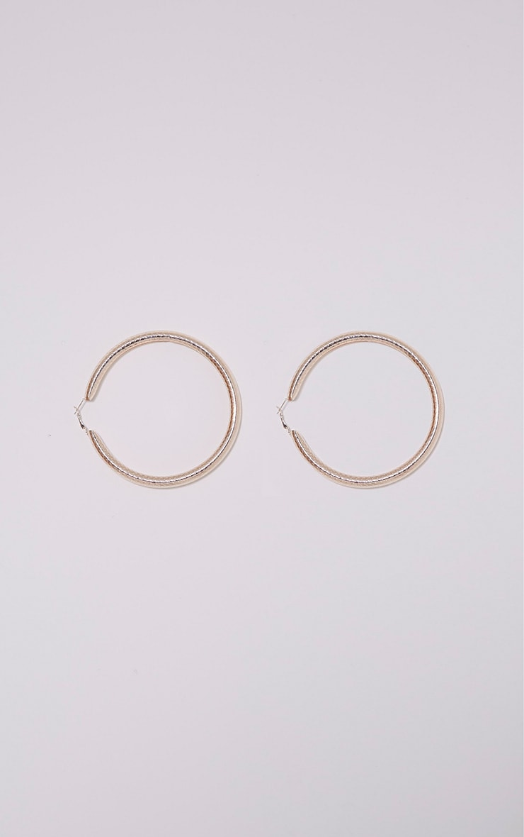 Shirrah Rose Gold Thick Hoops 3