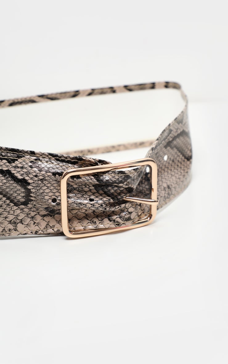Natural Snake Wide Soft Belt 3