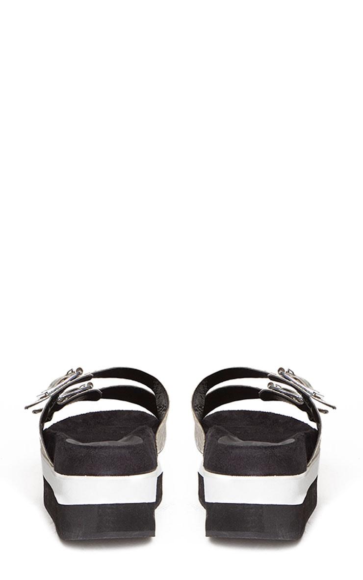 Cody Snake Effect Buckle Flatform Sandals 8