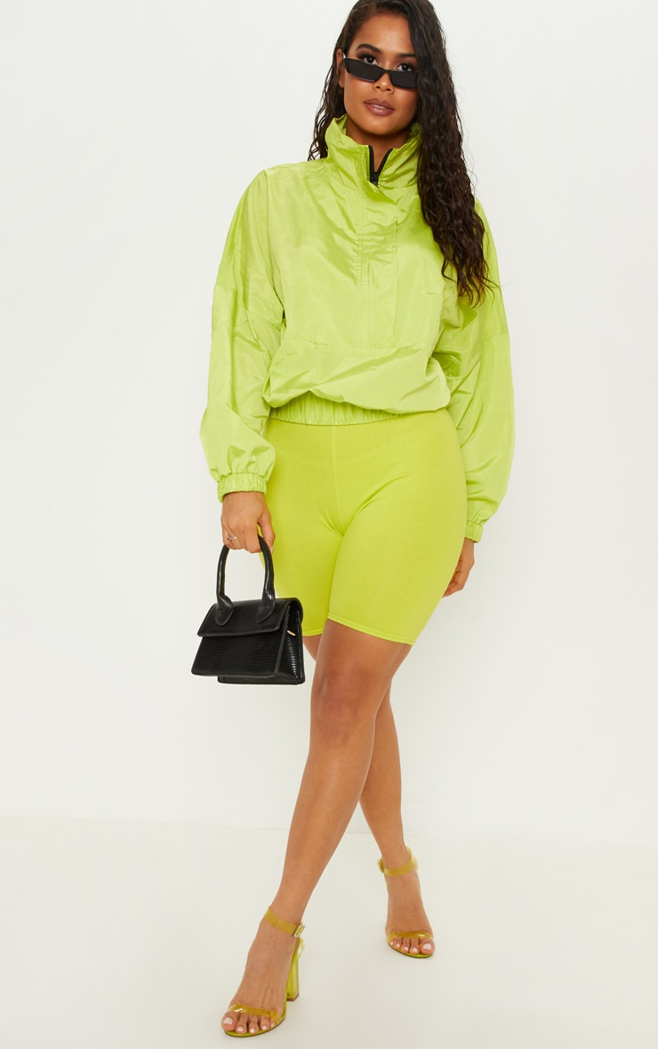 Neon Lime Oversized Windbreaker  1