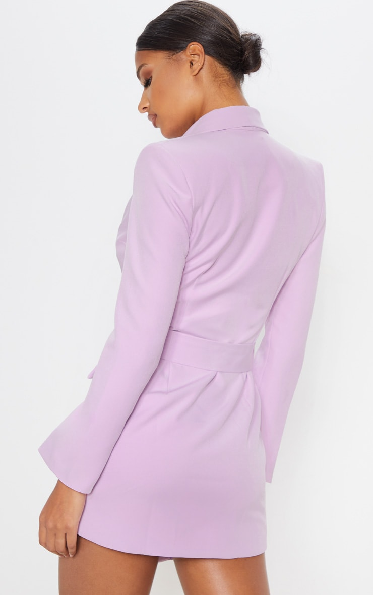 Dusty Lilac Belt Blazer Dress 3