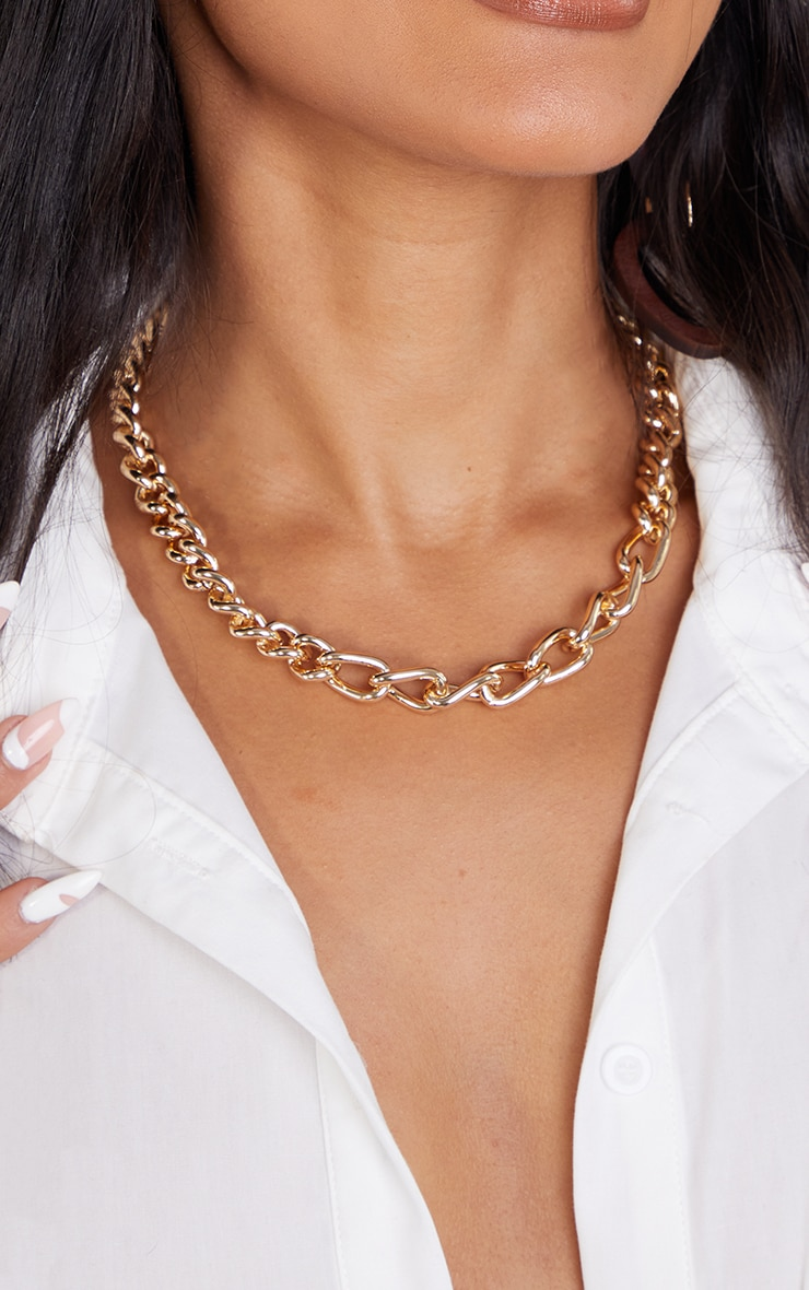 Gold Assorted Curb Chain Necklace 2