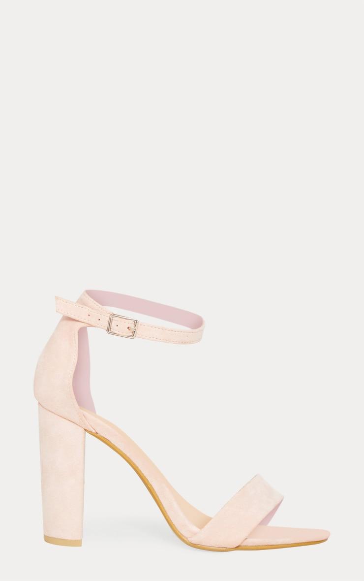 Dusty Pink Block Heel Strappy Sandal 3