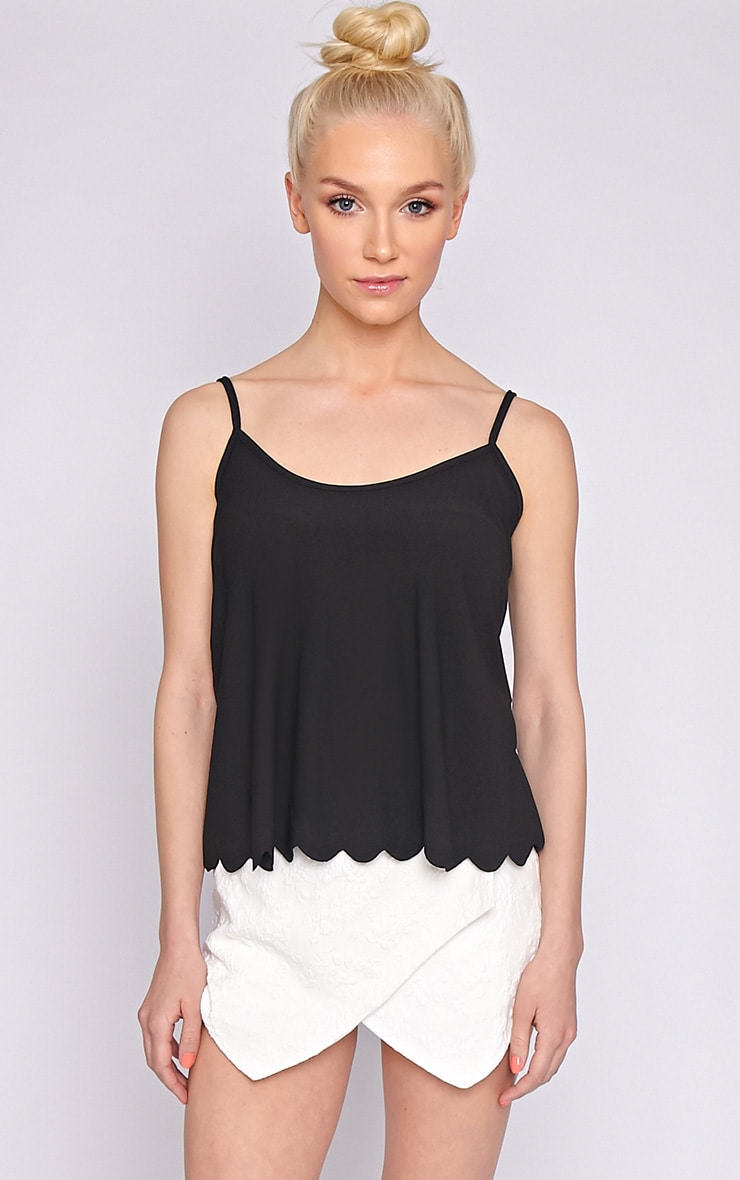 Kailey Black Scallop Vest  4