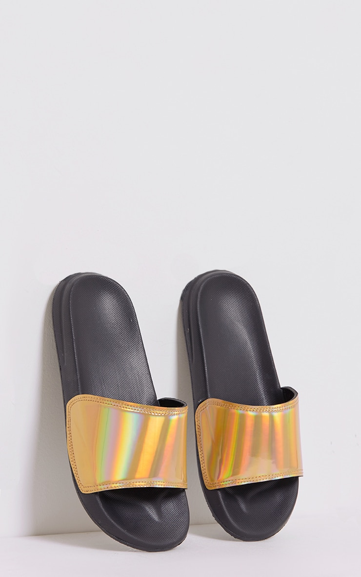 Selena Gold Iridescent Sliders 1
