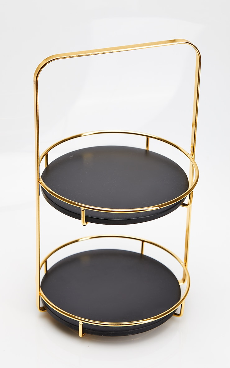 Black Marble Resin Tiered Stand 5