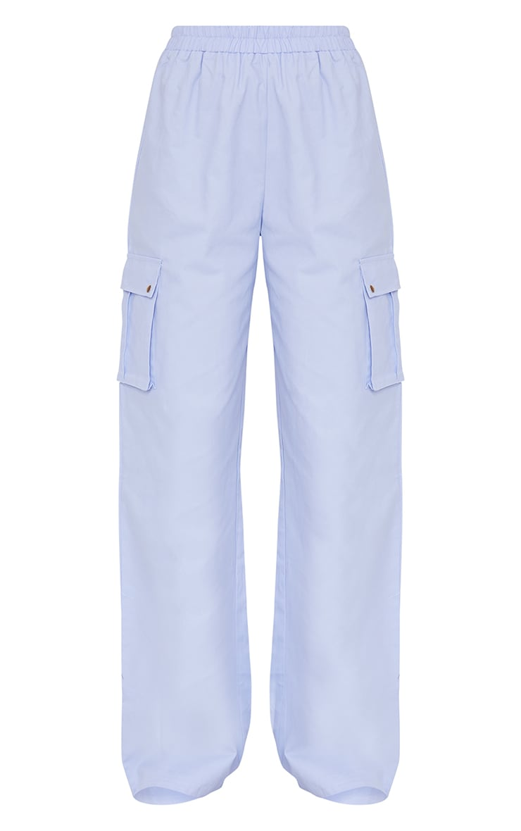 Lilac Wide Leg Cargo Pants 5
