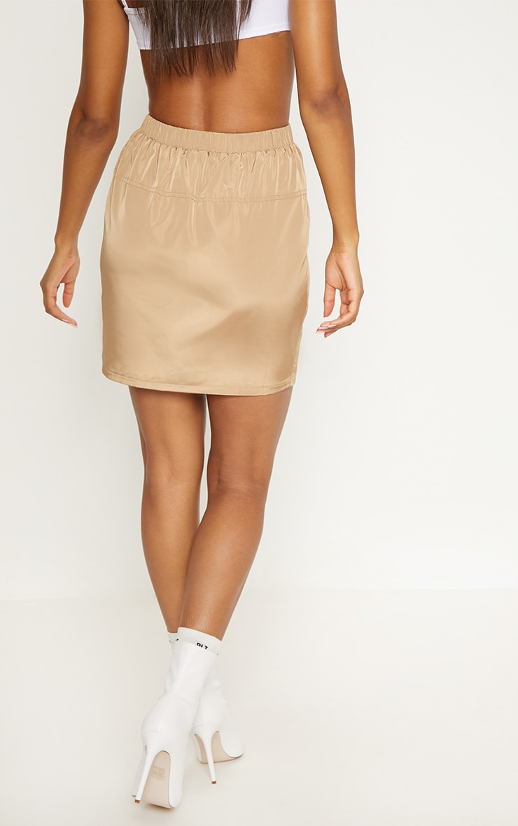 Camel Shell Suit Mini Skirt  4