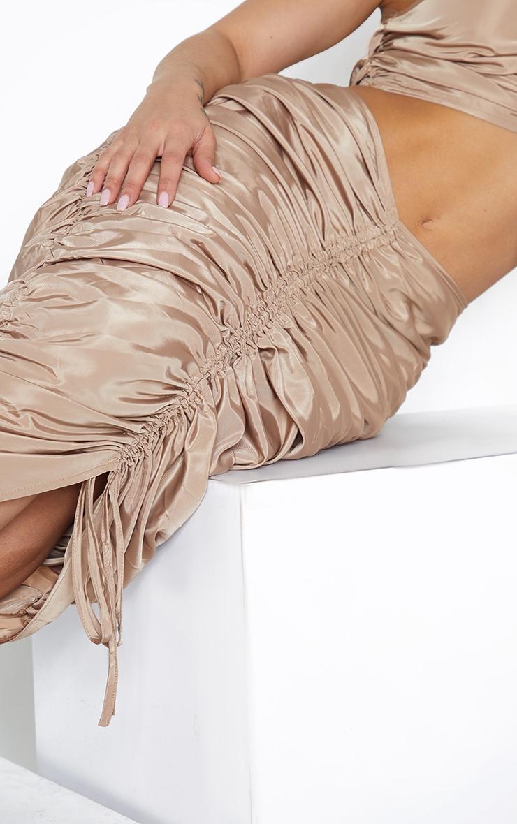 Shape Stone Nylon Extreme Ruched Midi Skirt 4