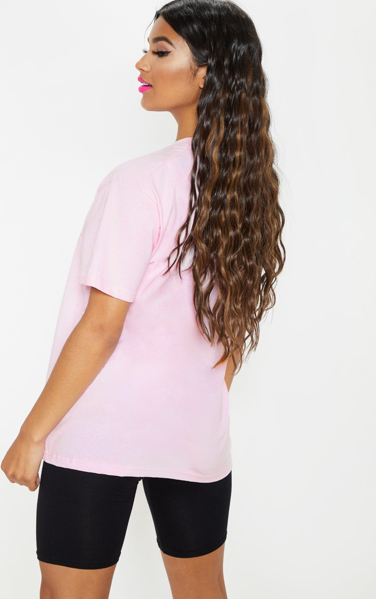 UNISEX Pink EQUAL Oversized T-shirt  3