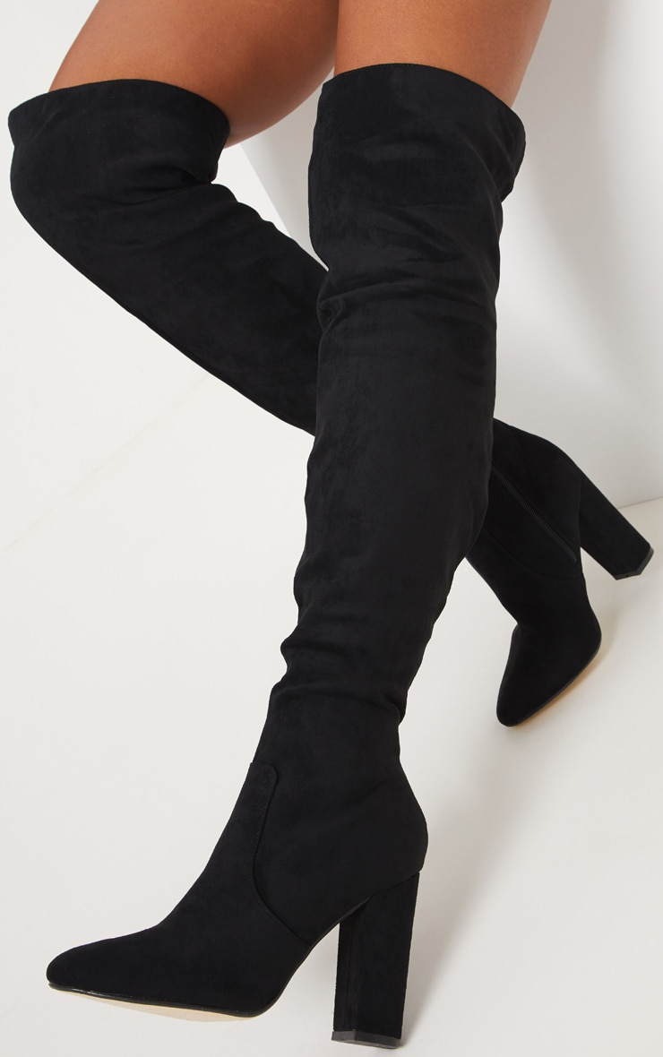 Black Over The Knee Behati Boot 2