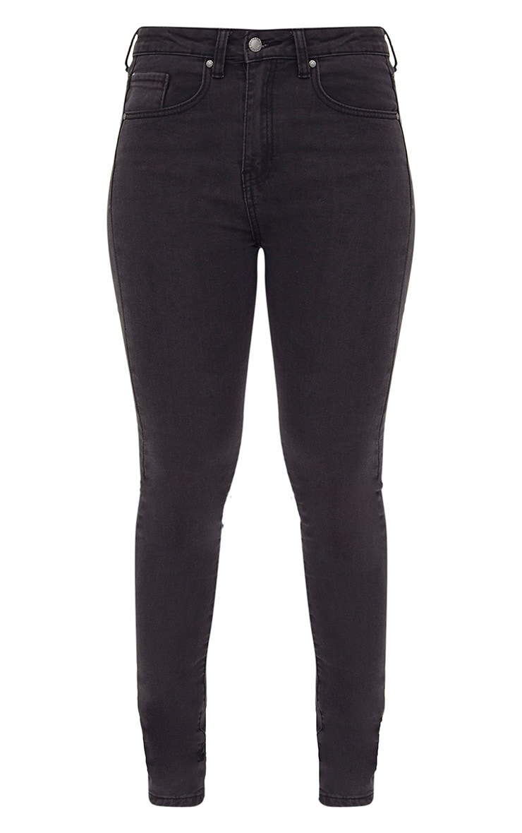 Charcoal High Waisted Skinny Jean 3