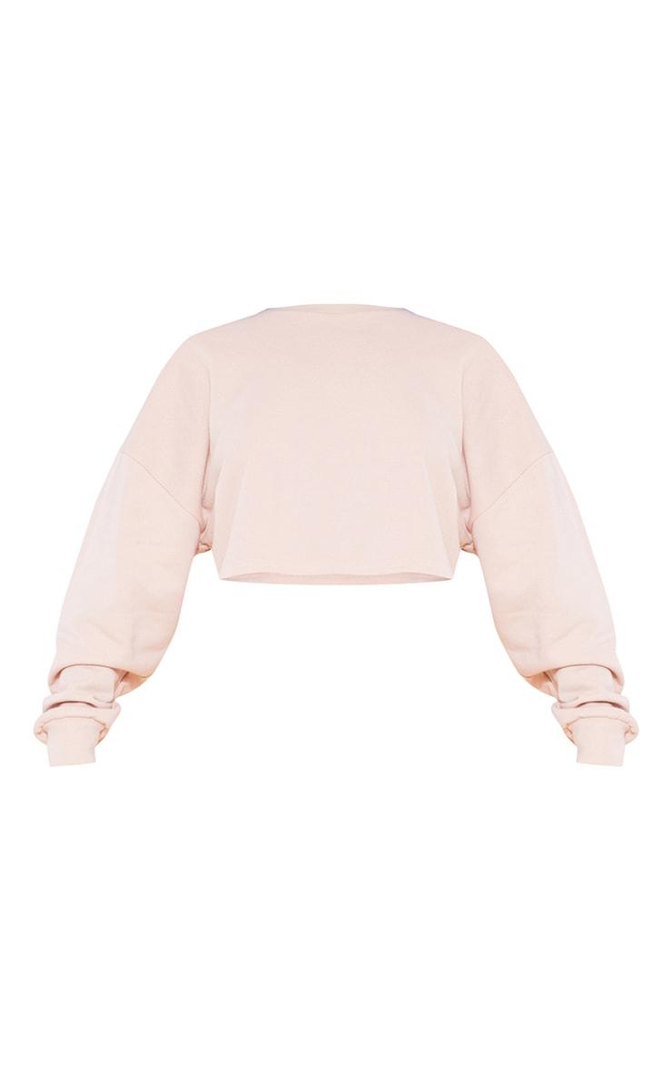 RECYCLED Deep Nude Crop Sweater 3