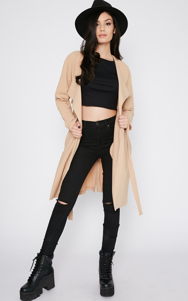 Ashia Camel Trench Coat 4