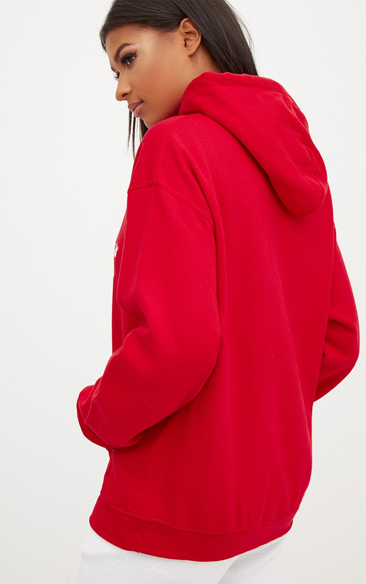 Red Happy Holly Yays Christmas Slogan Hoodie 2
