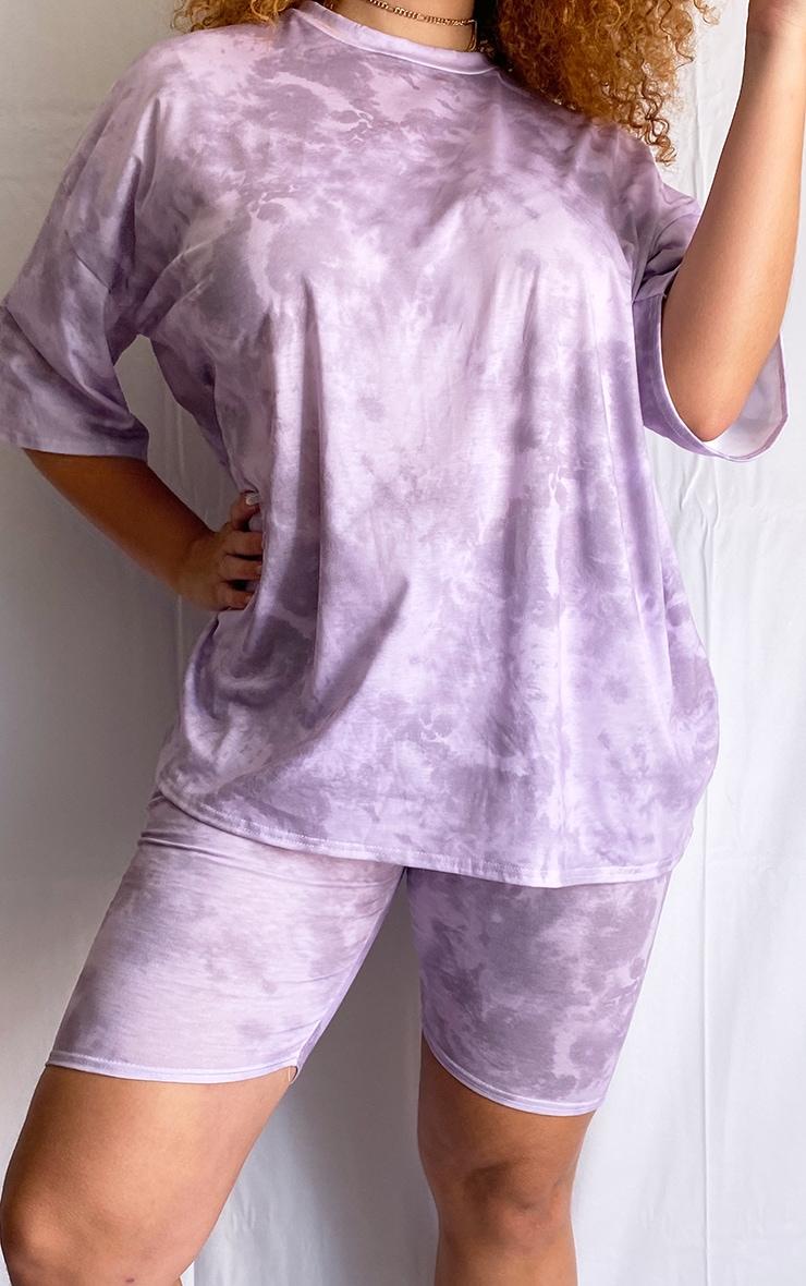 Plus Purple Tie Dye Bike Shorts 3