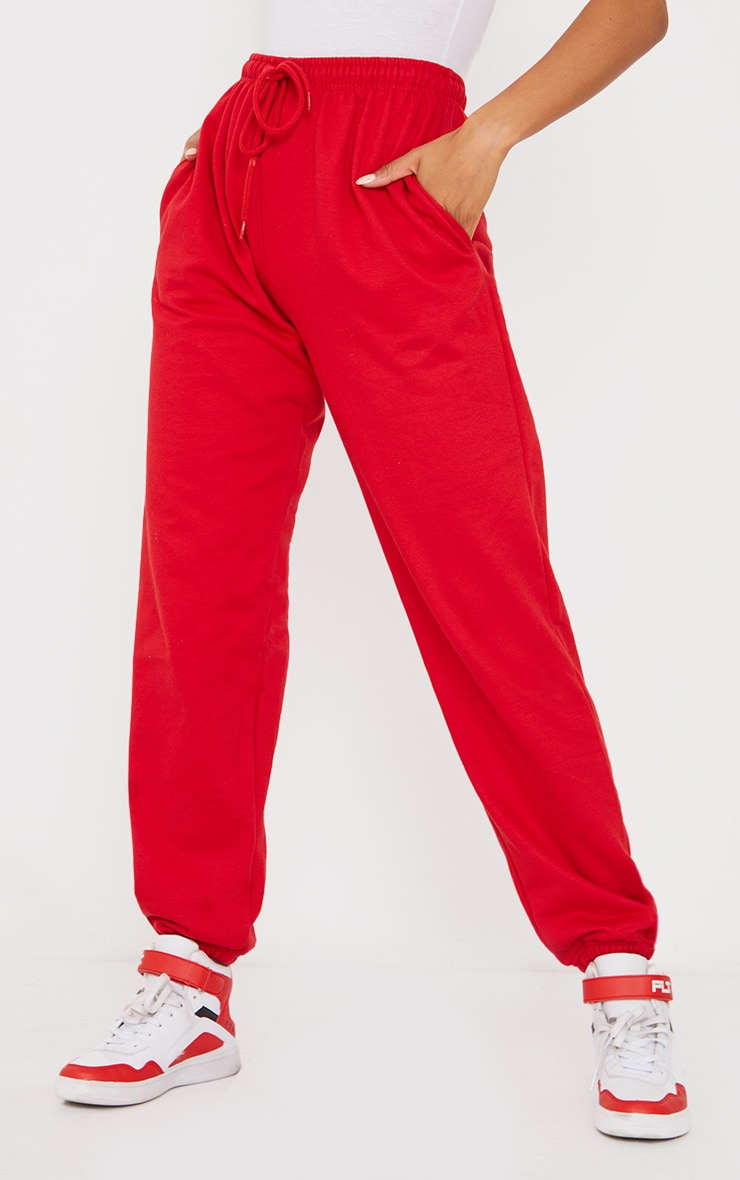 Red Chicago Casual Joggers 2
