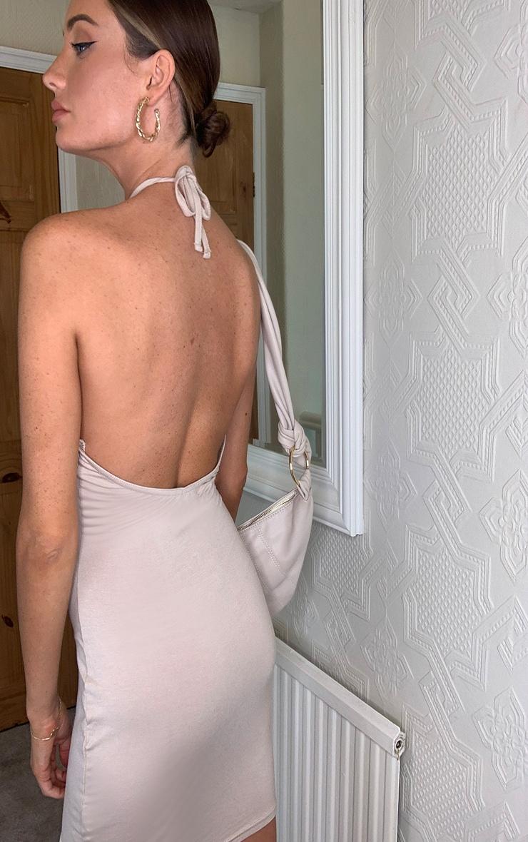 Stone Halterneck Bodycon Dress 2