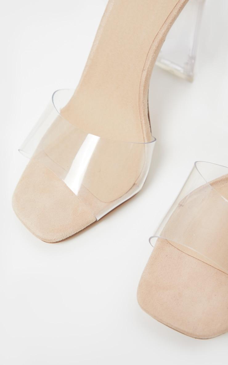 Nude Flat Heel Square Toe Sandal 5