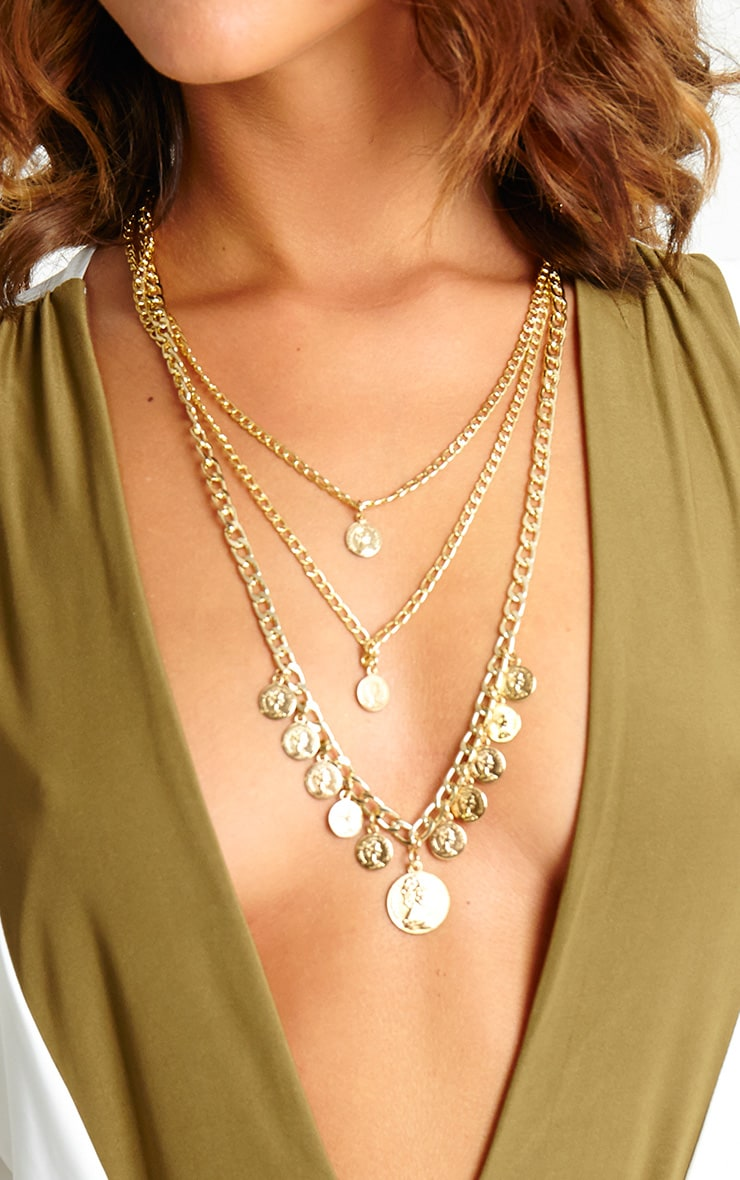 Keyla Gold Layered Coin Necklace 2