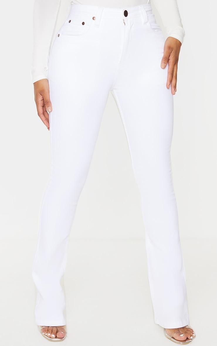 Shape White Stretch Denim Flared Jean 2