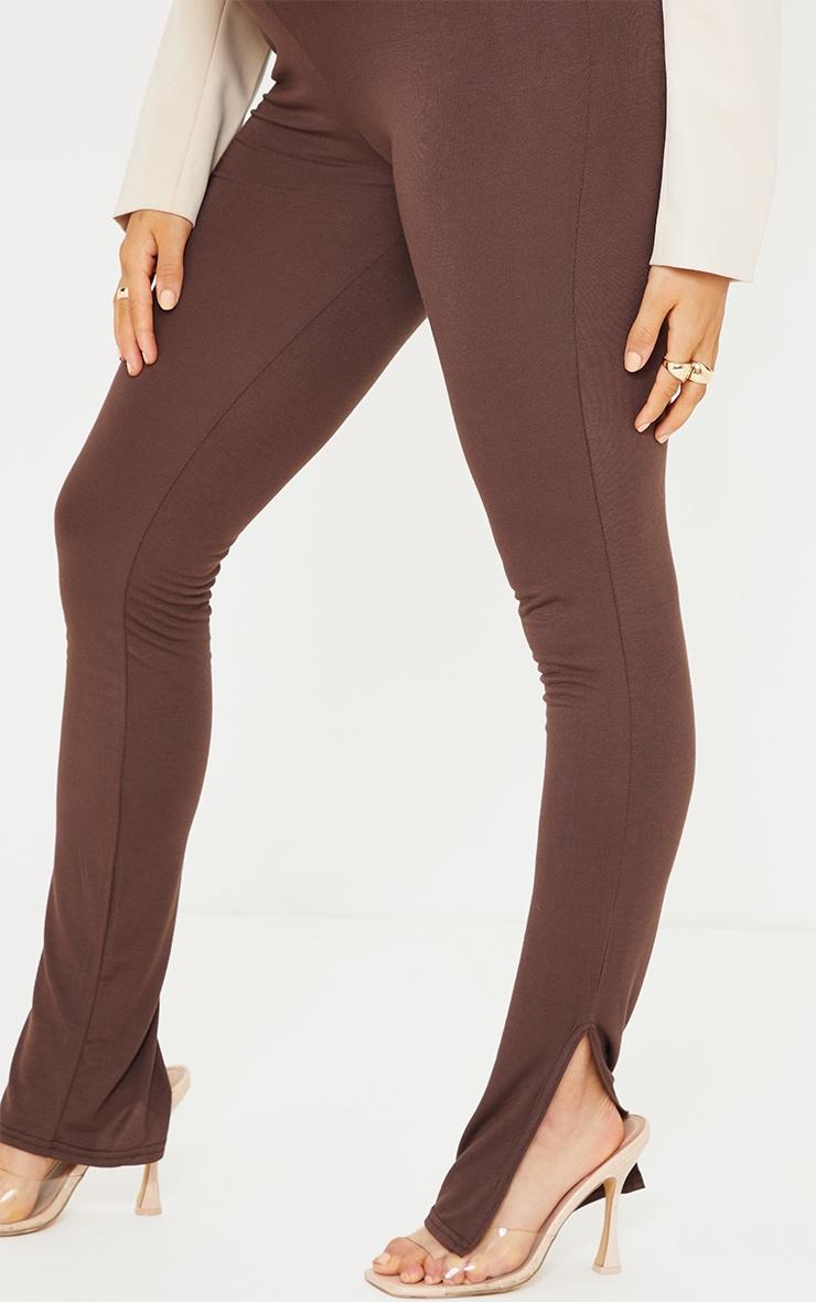 Maternity Chocolate Basic Split Hem Leggings 4