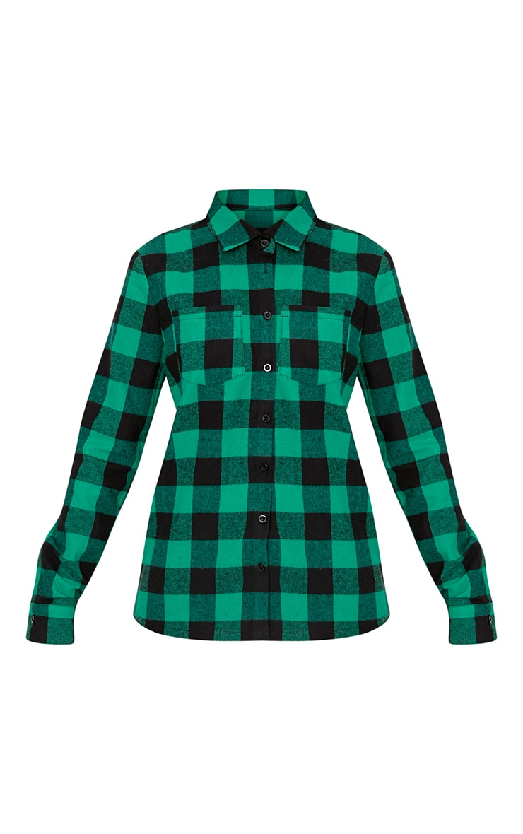 Layla Green Checked Shirt 3