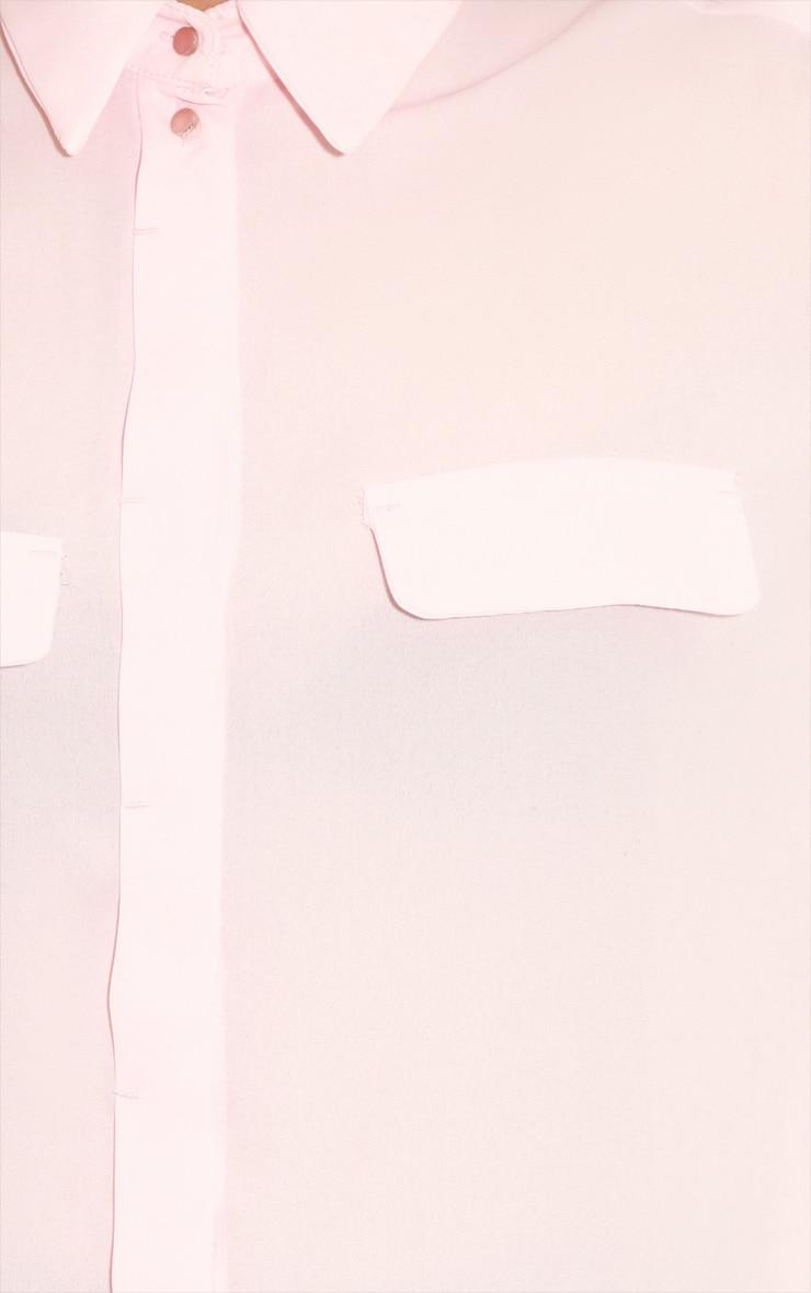 Eboni Pink Chiffon Shirt 5