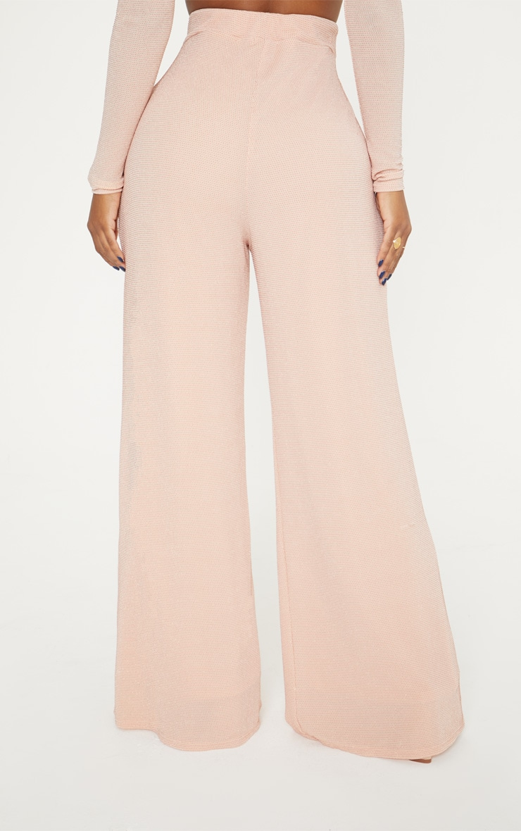 Shape Nude Glitter Wide Leg Trousers 4