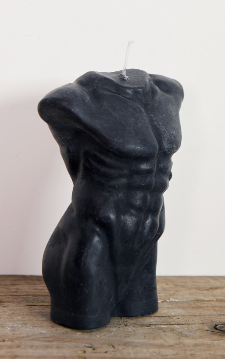 Black Large Male Body Candle 14cm 4