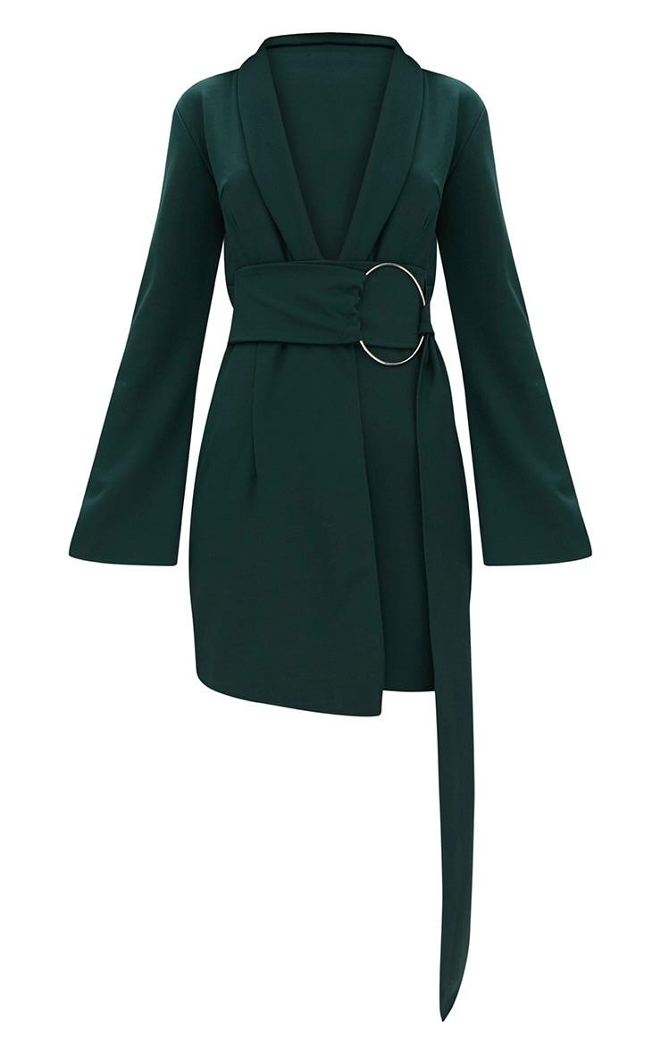 Robe blazer à anneau surdimensionné vert émeraude 3