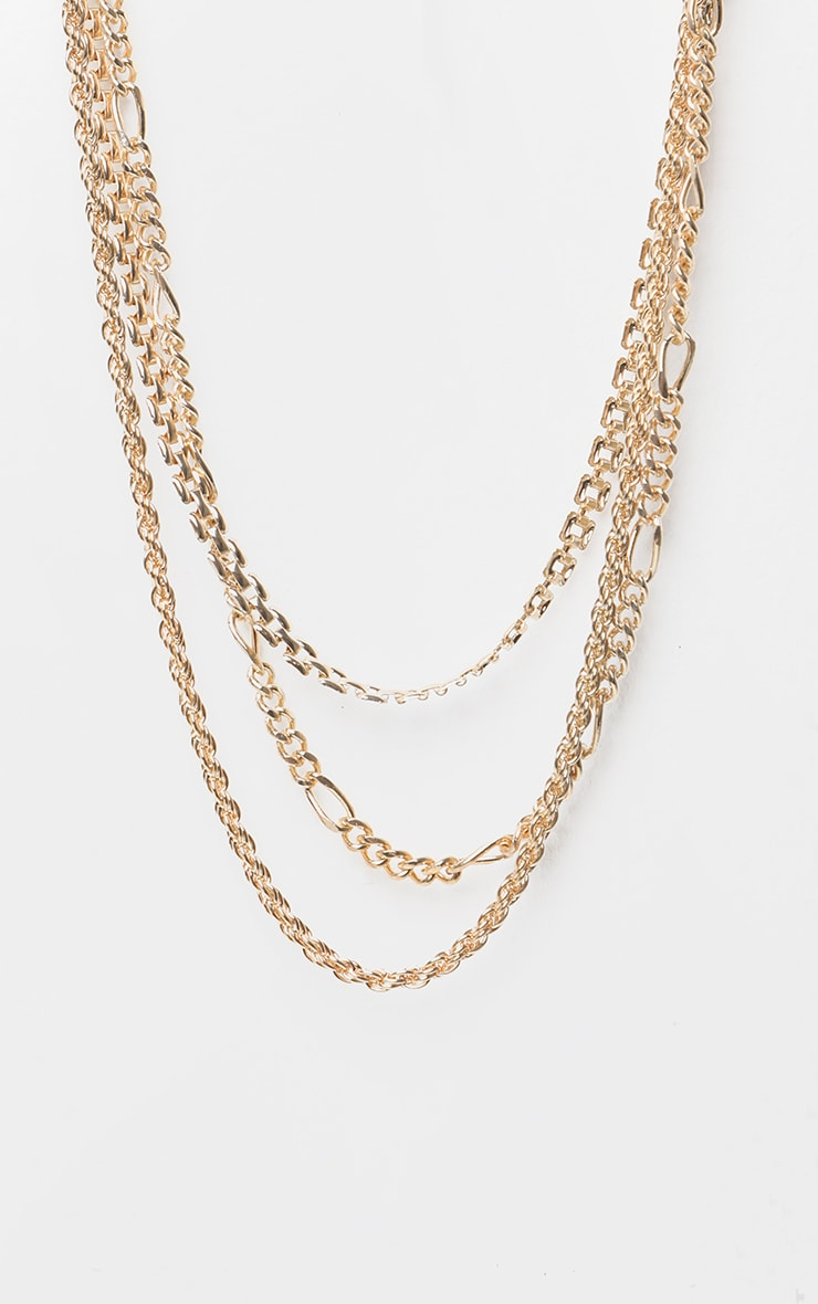 Gold Multi Chain Layered Necklace 3