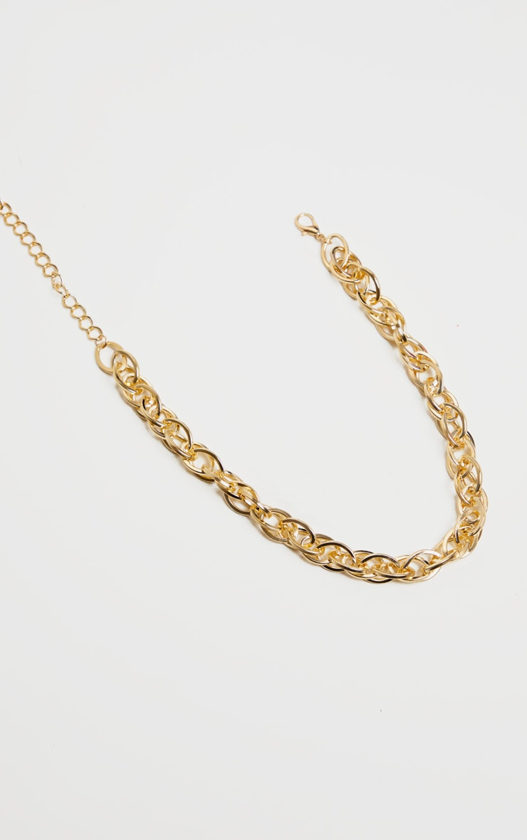 Gold Chunky Single Chain Necklace 2