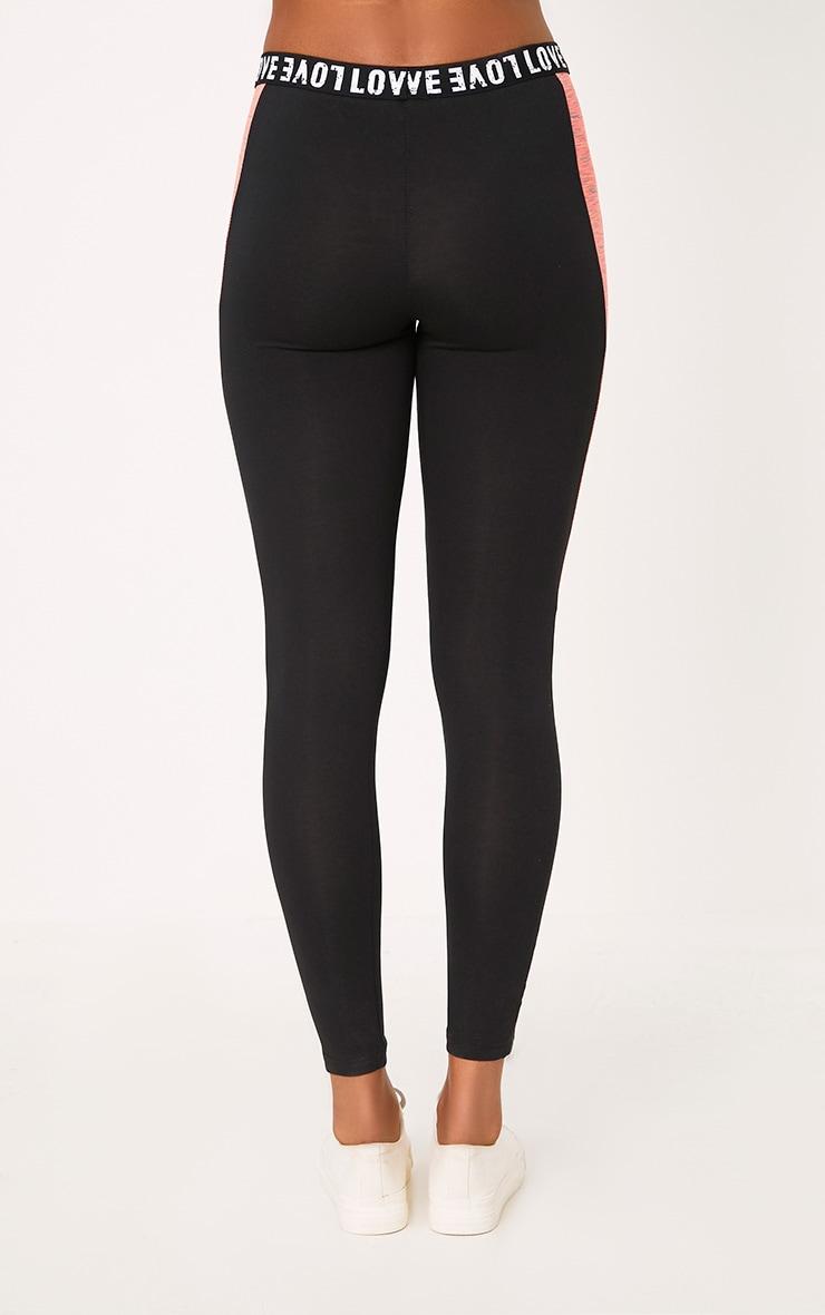 Grey/Black Melange Gym Leggings 4