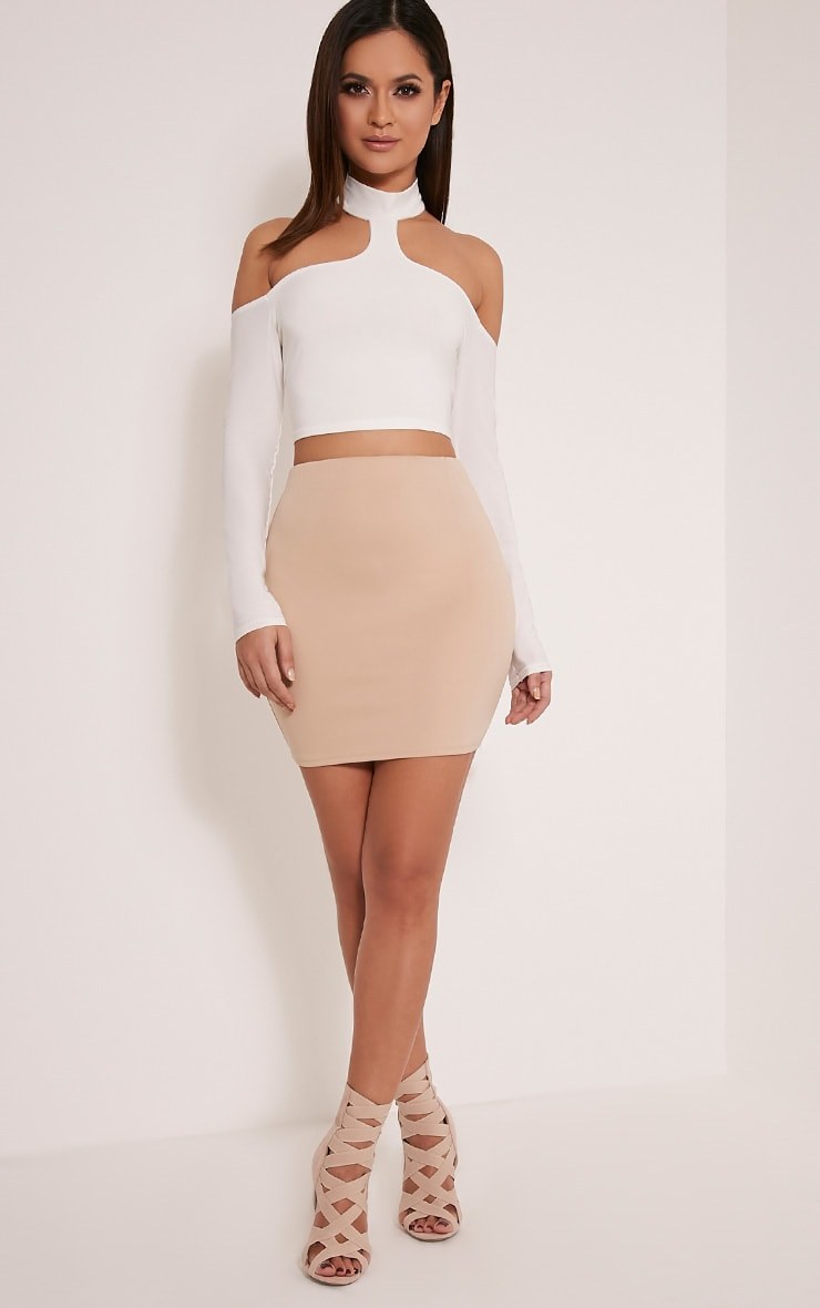 Milah Stone Scuba Mini Skirt 2