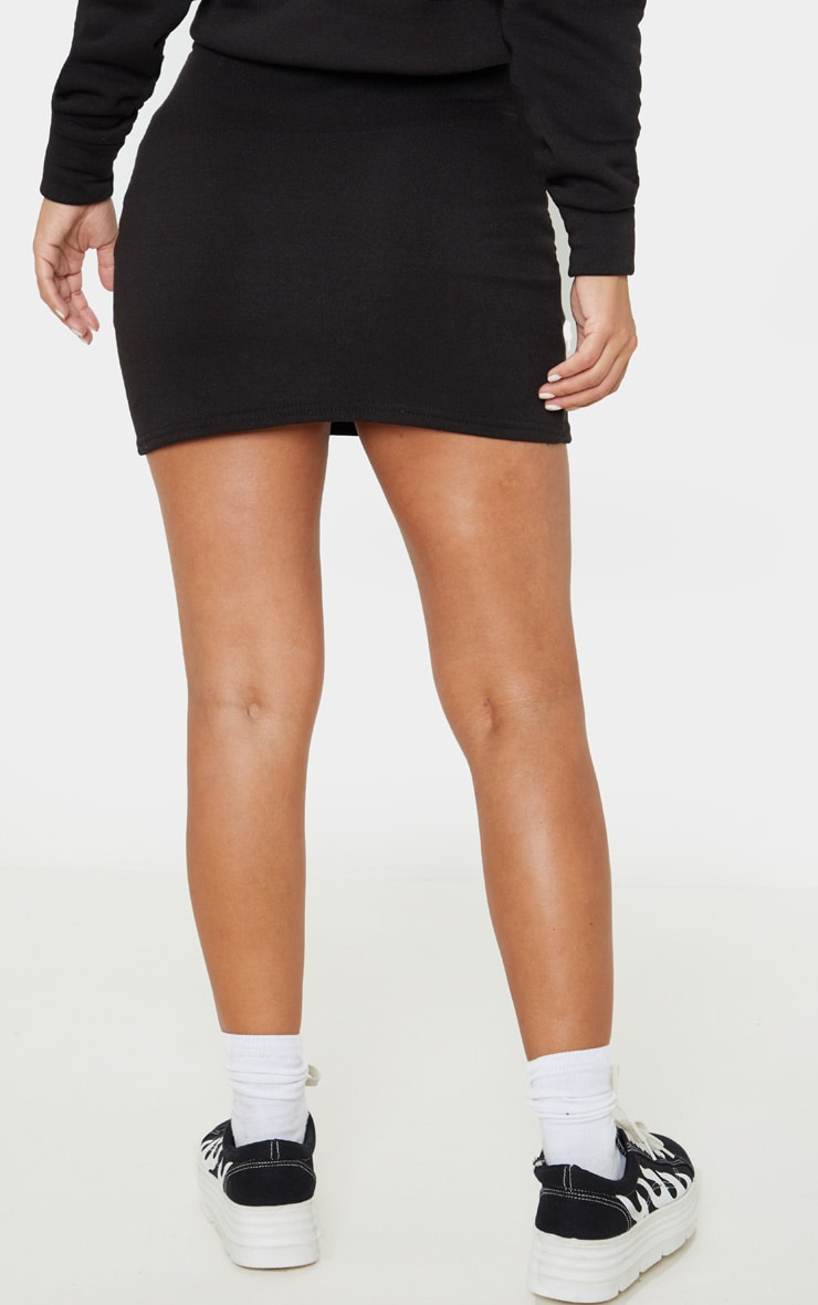 Petite Black Sweat Skirt 4