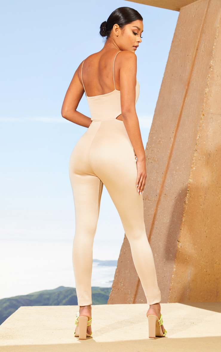 Nude Second Skin Cut Out Side Jumpsuit 2