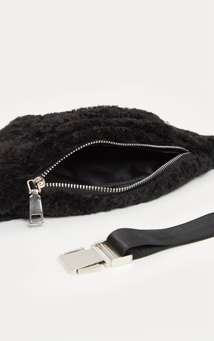 Black Fluffy Front Bag 4