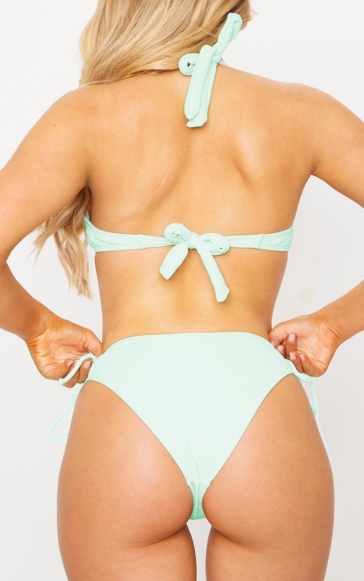 Mint Ruched Side Bikini Bottom 4
