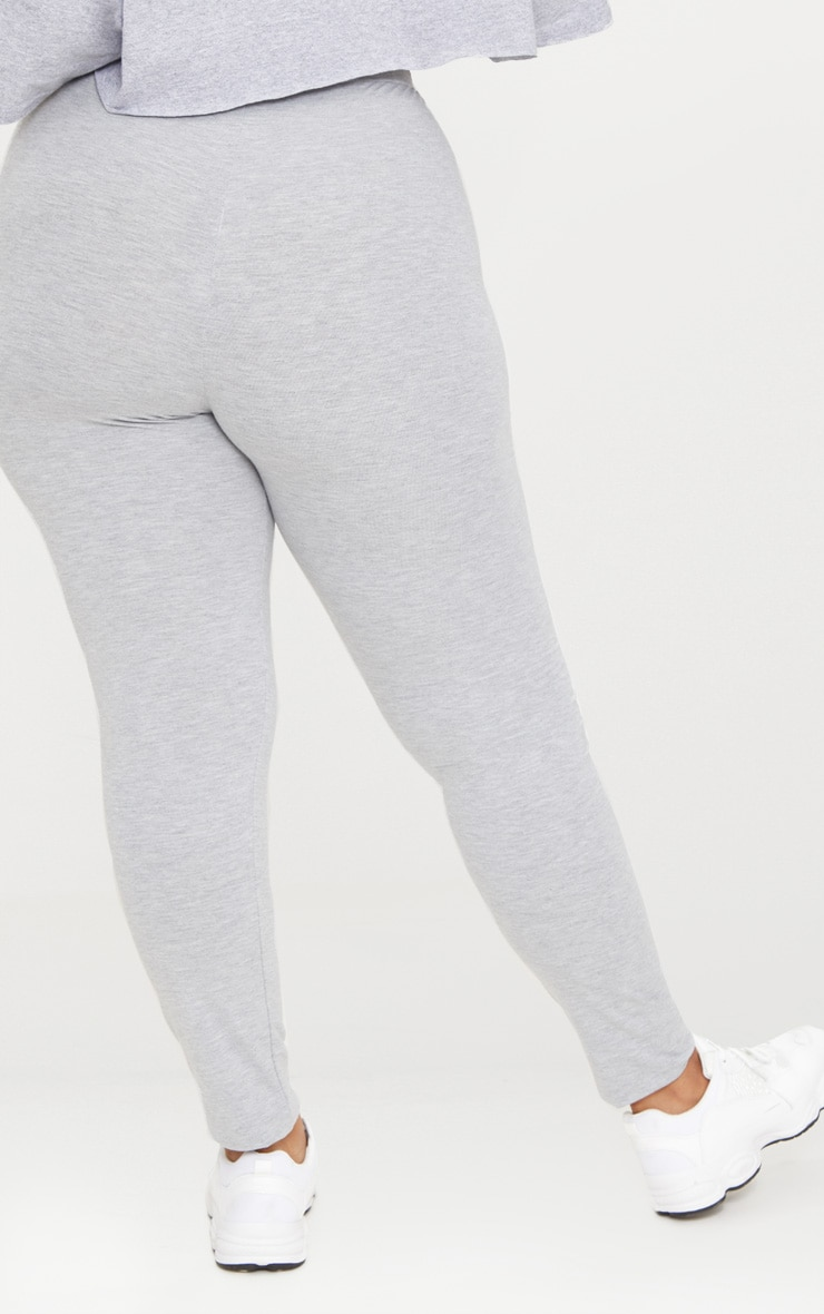 Plus legging en jersey gris 4