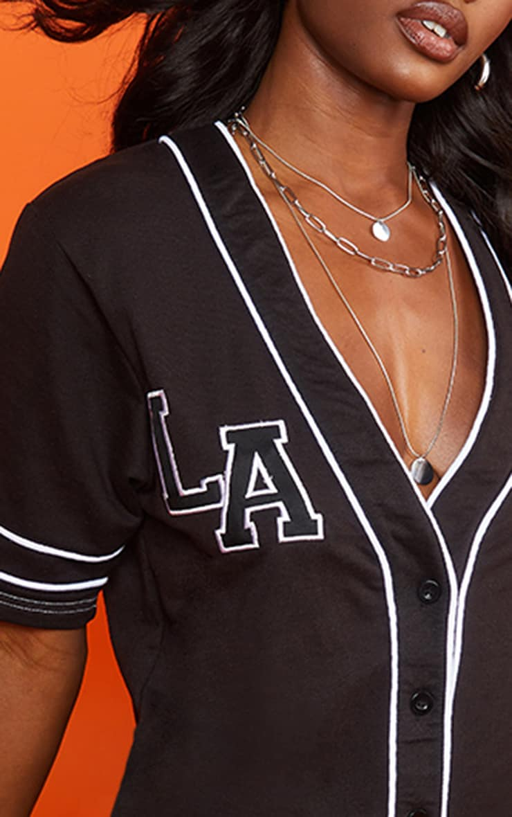 Black LA Jersey Dress 4