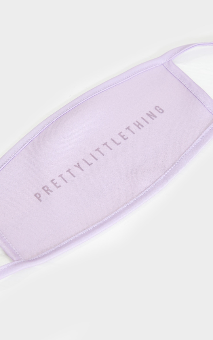 PRETTYLITTLETHING Lilac Face Mask 3