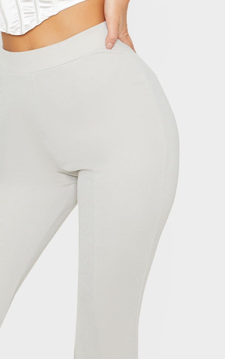 Grey Crepe Extreme Flare Trouser 5