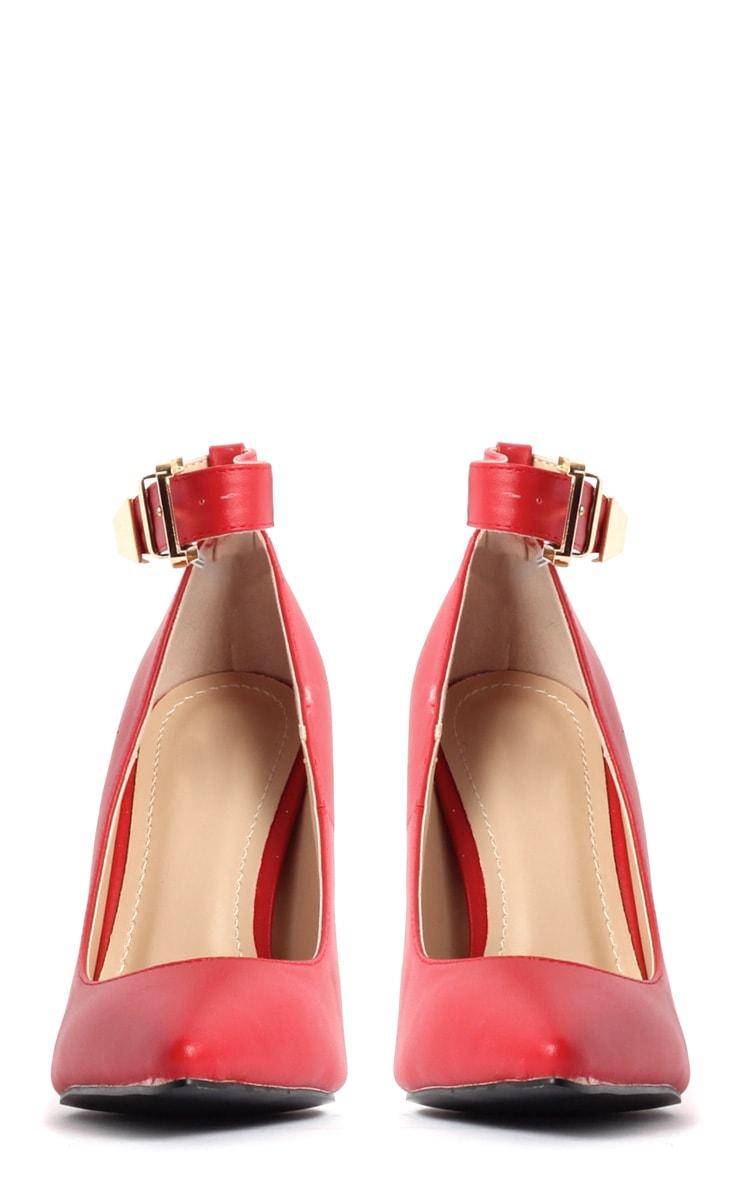 Jennie Red Ankle Strap Heels 3