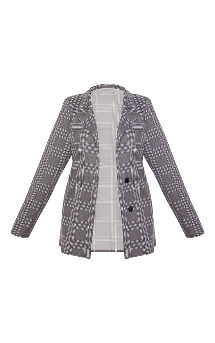 Plus Grey Checked Blazer 3