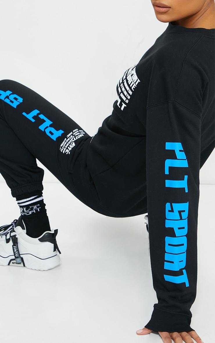 Black Sports Oversized Sweatshirt 4
