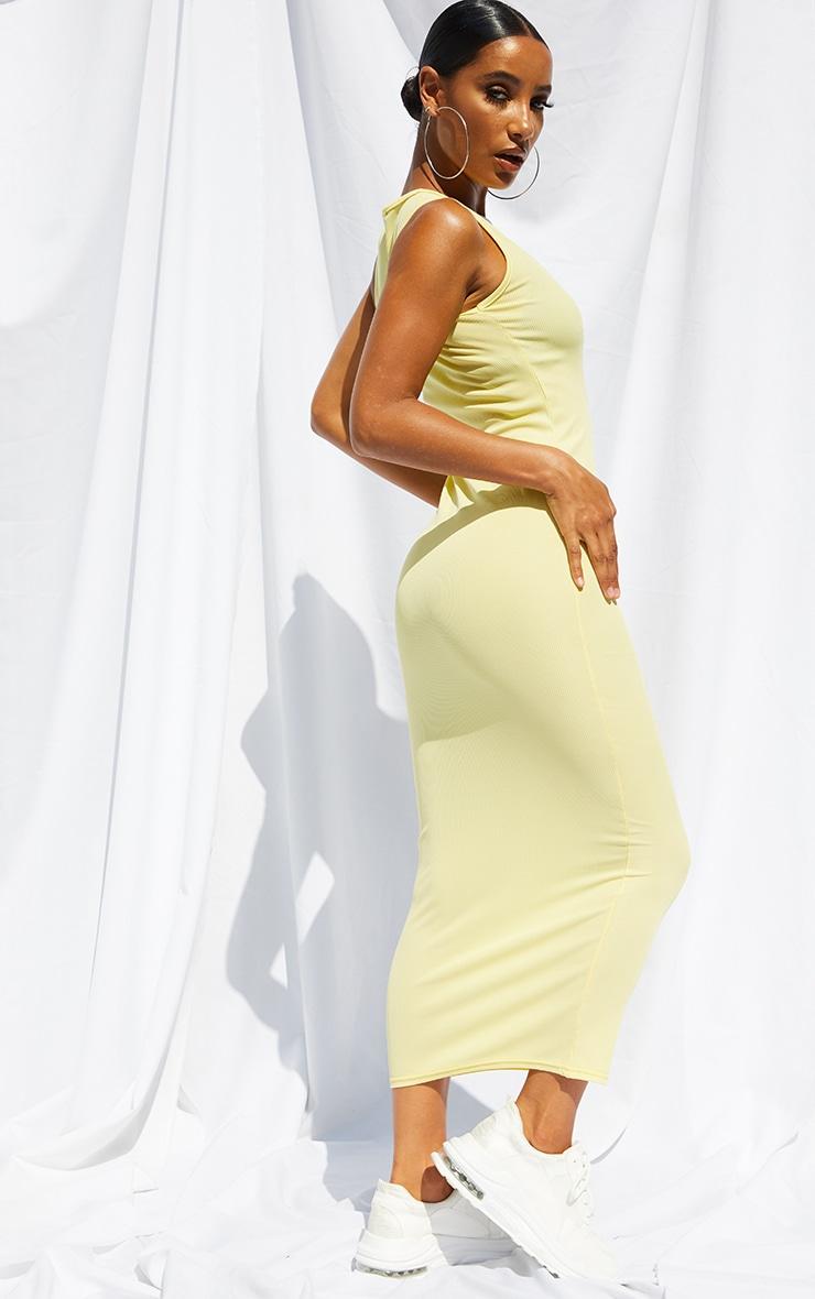 Lemon Basic Rib Maxi Dress 2