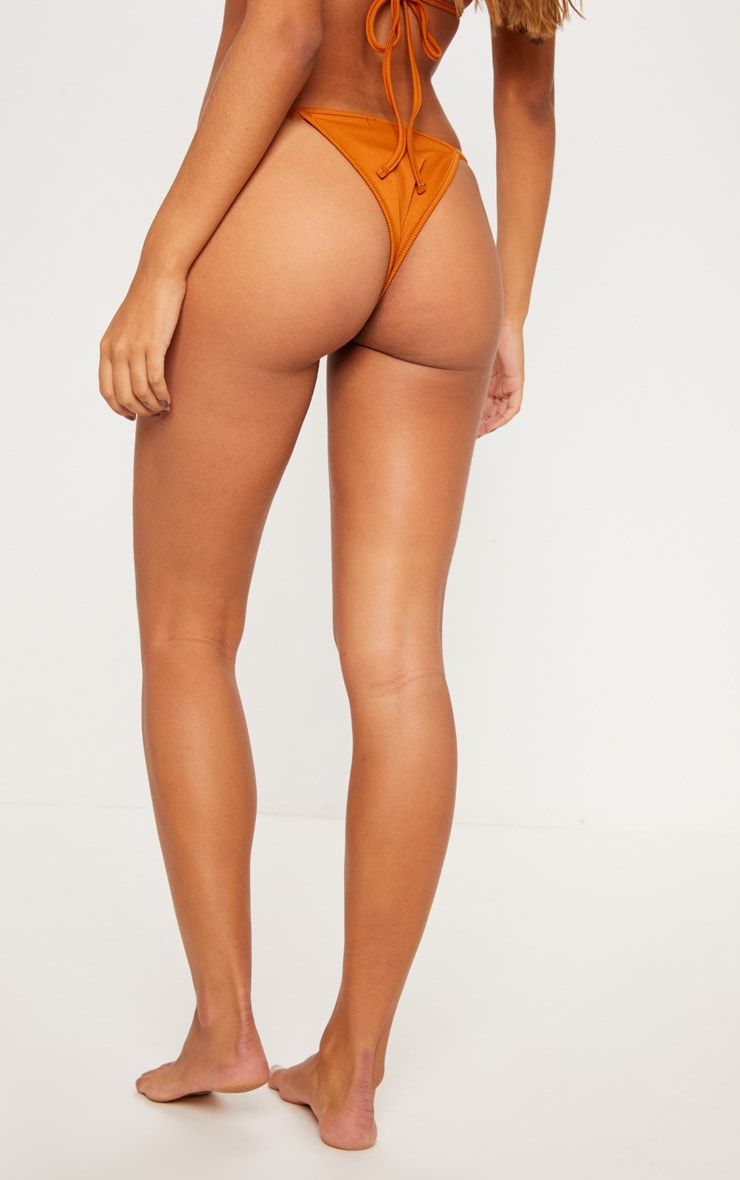 Rust Mix & Match Ribbed Itsy Bikini Bottom 4